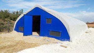 şantiye çadırı çelik aksamı montajı