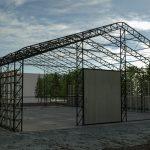 şantiye çadırı demir aksamı montajı